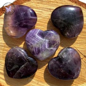 Amethyst Gemstone Crystal Heart
